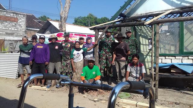 Gandeng Komunitas Warga Tuban, Danramil 10 Bangilan Ajak Budayakan Guyub Rukun Melalui Bhaksos