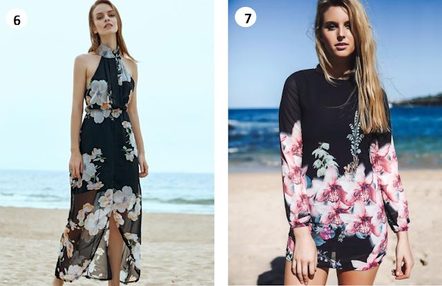 Onde comprar vestido de chiffon florido