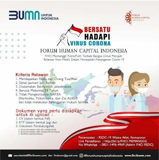 LOWONGAN RELAWAN COVID-19 (Forum Human Capital Indonesia)