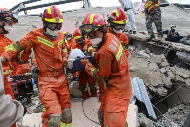 Coronavirus: At least four dead in China quarantine hotel collapse
