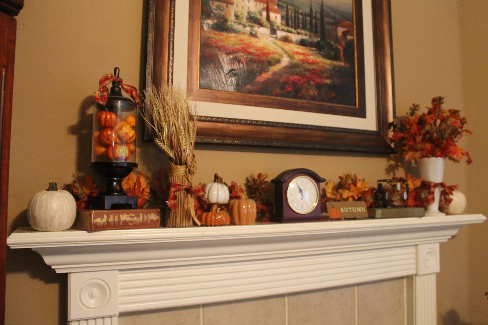 & Texas Decor: Fall Decor Part 1 Mantel and Living Room