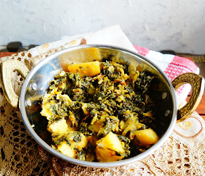 aloo methi, fenugreek