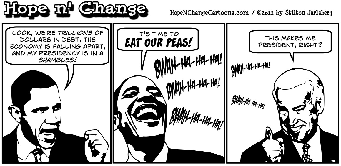 Barack Obama says the way to solve our deficit problem is to eat our peas, hopenchange, hope and change, hope n' change, stilton jarlsberg