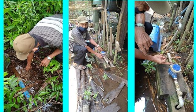 Kebocoran Pipa Sumur Bor Desa Batuah, PUPR-PKP Kapuas Ajak Masyarakat Merawat Fasilitas Bersama