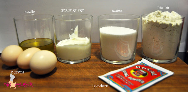 bizcocho yogur griego ingredientes