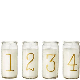 Adventsljus siffror 1234