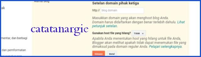 Costumize domain freenom ke blogger