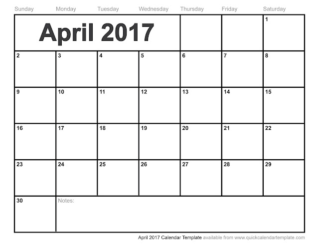 Delighful Printable Calendar April 2017 Inside Decorating Ideas