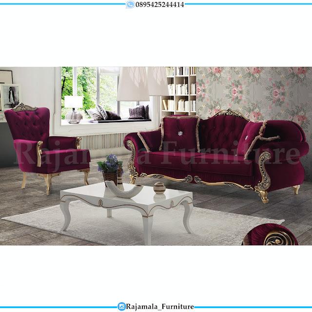 Get Now Sofa Tamu Mewah Ukiran Jepara Terbaru Luxury Golden Color RM-0383