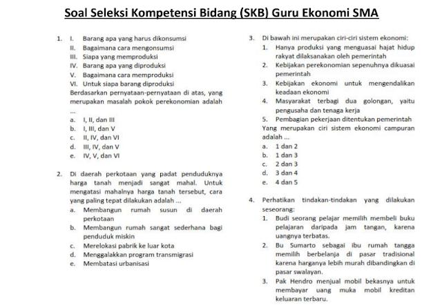 Materi Soal SKB Guru Ekonomi SMA CPNS 2020 (Seleksi Kompetensi Bidang)