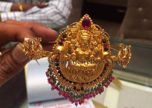 Dual Peacock Lakshmi Armlet