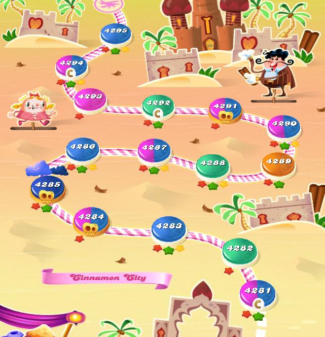 Candy Crush Saga level 4281-4295