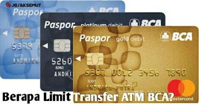 limit transfer bca gold