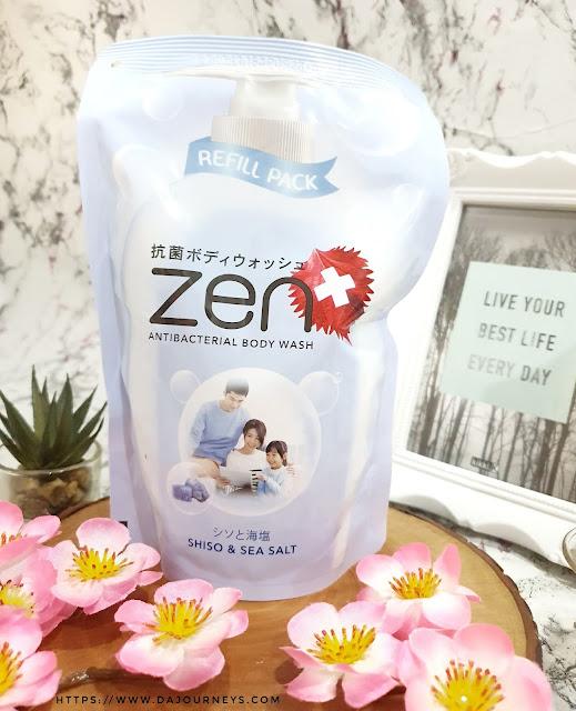 [Review] #ZENAntiBacterial Body Wash Shiso & Seasalt
