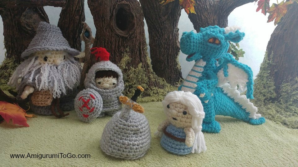 Crochet Dragon Patterns and Amigurumi Story Round Up