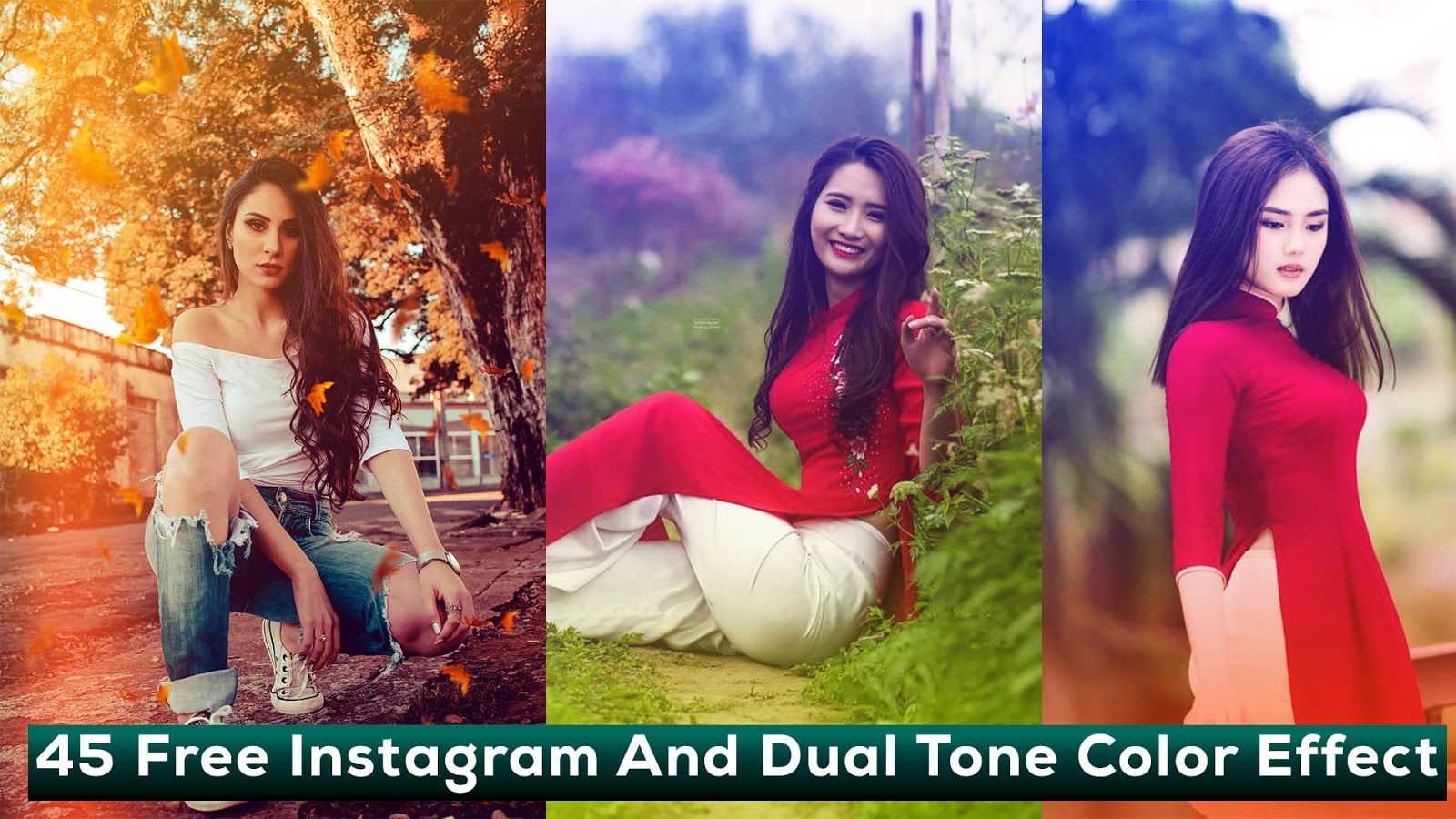 45 Free Instagram Color Effect Photoshop Actions
