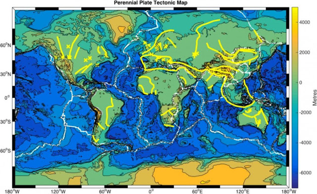 Ancient geologic events may have left deep 'scars' on Earth's crust