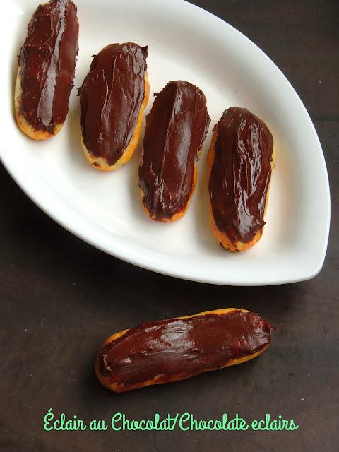 Chocolate Eclairs, Eclairs au chocolat
