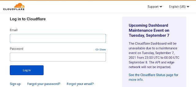 Login Cloudflare