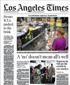 Los Angeles Times Magazine 11 September 2021