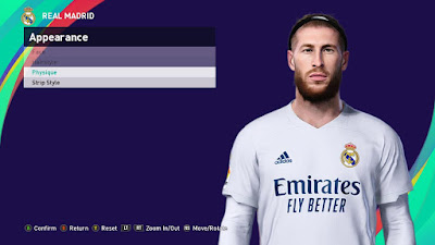 PES 2021 Faces Sergio Ramos by SR