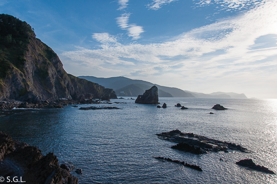 Vista desde San Juan de Gastelugatxe. Una ermita en el mar, San Juan de Gastelugatxe