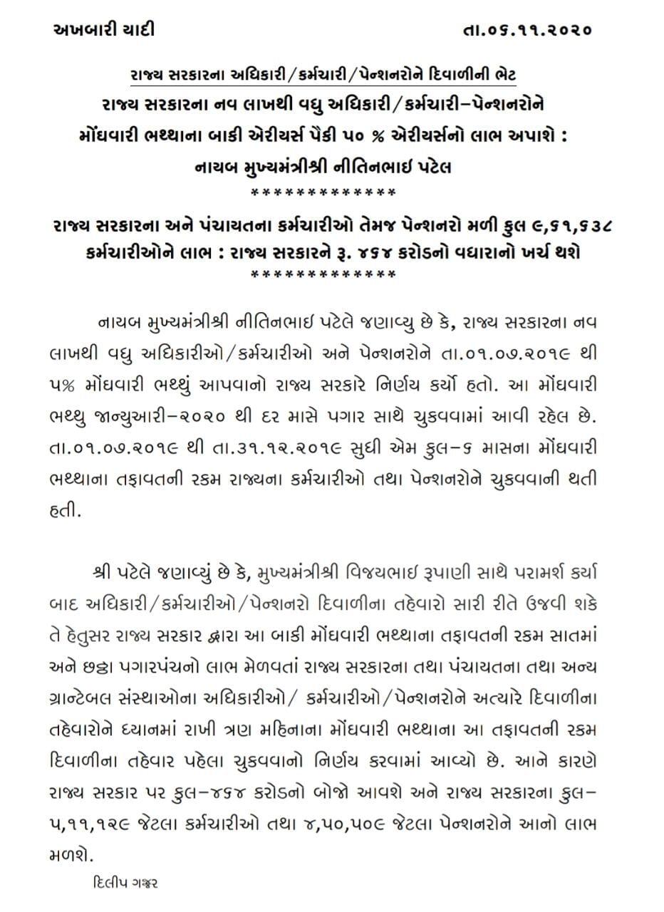 Moghavari latest news of Gujarat  government