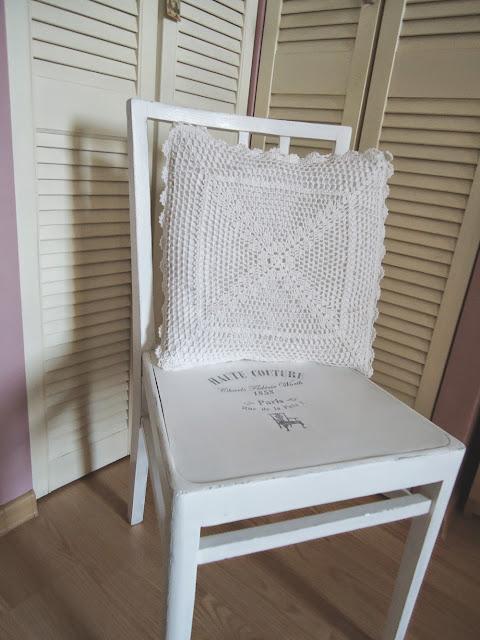 krzesło po babci w nowej szacie:)