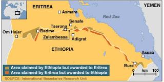 Ethiopia Eritrea borders