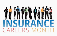 poster for insurance careers month.