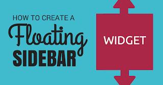 Cara Membuat Widget Sticky di Sidebar di Blogspot Widget Melayang Blogger