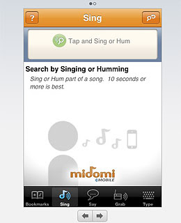 midomi voice search