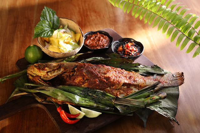 Grouper in banana leaf - Enak KL Feast Village Starhill Gallery New Menu 2018