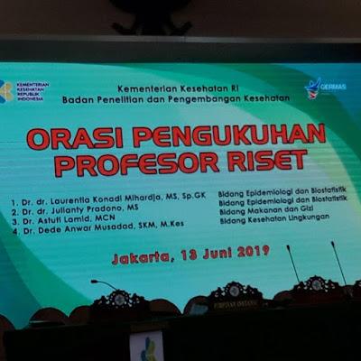 Orasi Pengukuhan Profesor Riset