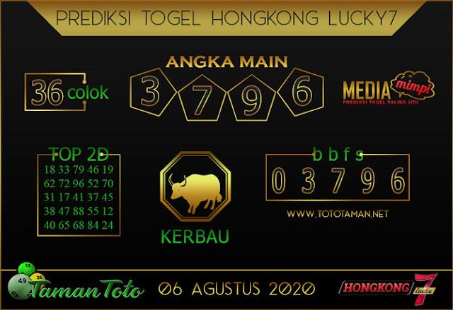 Prediksi Togel HONGKONG LUCKY 7 TAMAN TOTO 06 AGUSTUS 2020