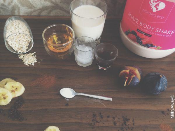 Ingrédients de la recette de pancakes vegans