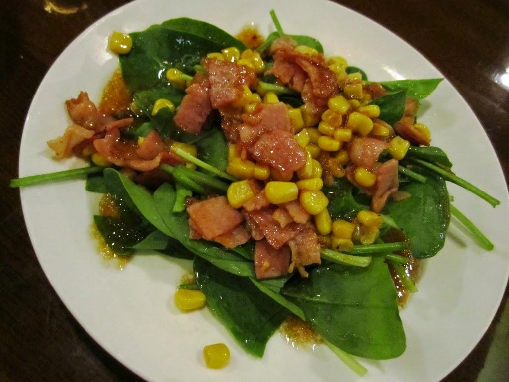 Spinach Salad Beer Plaza Pilsen Towada ホウレン草サラダ ビアプラザピルゼン 十和田市