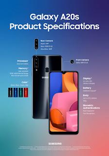 شركة سامسونج تعلن رسميا عن الهاتف Galaxy A20s.. تعرف على مواصفاته.