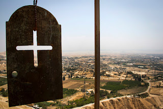 view from mount of temptation in Jericho
