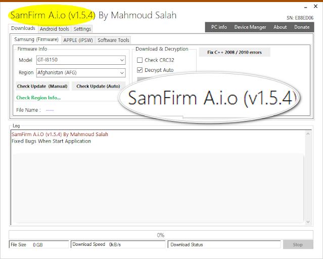 SamFirm Tool V1.5.4 Full Stable Version