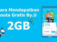 Cara Mendapatkan Kouta 2 GB By.U Gratis - Provider SIM Digital