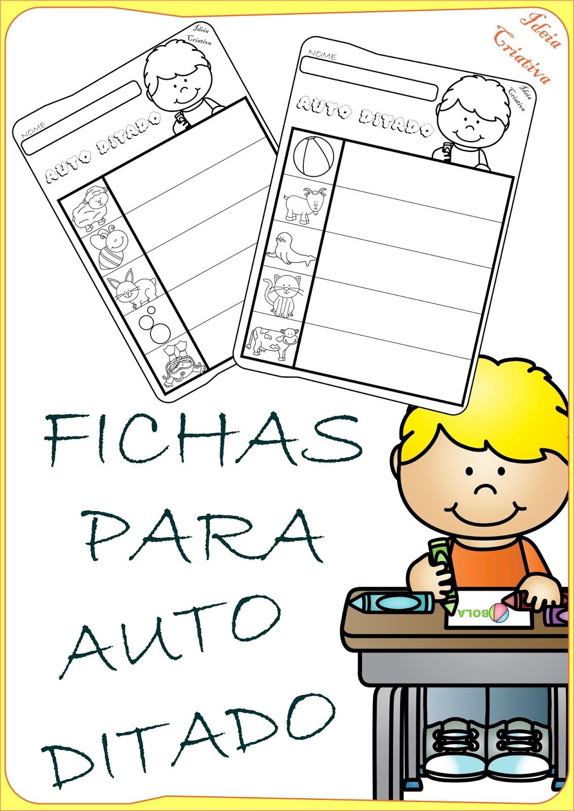 Fichas Ilustradas para Auto Ditado Sílabas Simples e Complexas
