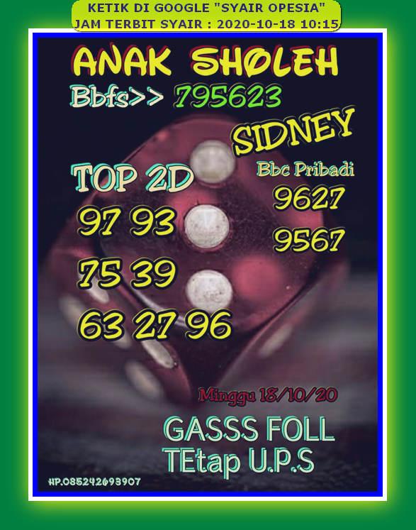 Kode syair Sydney Minggu 18 Oktober 2020 75