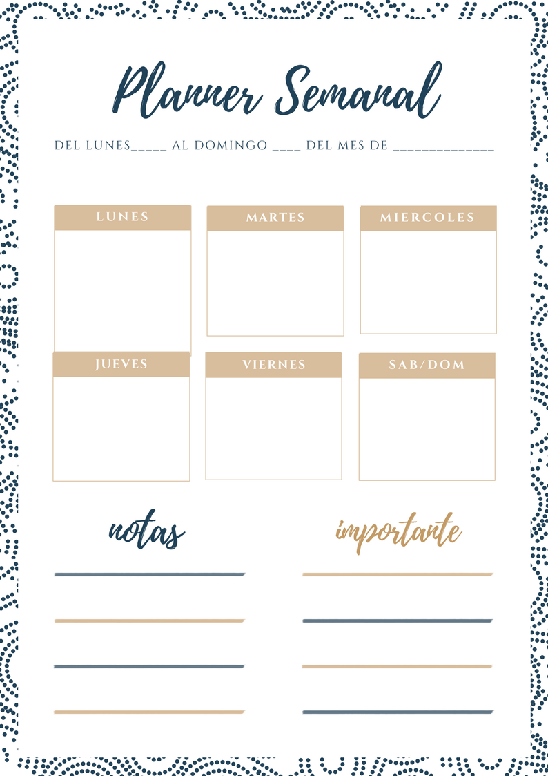 Calendario MARZO y planificadores descargables imprimibles