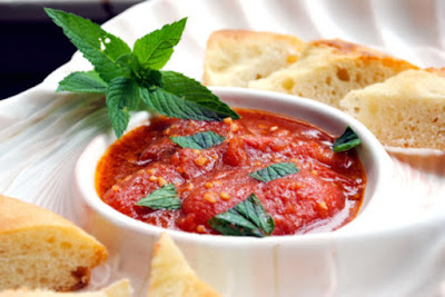 herby meat balls or just on its own with pita bread Lebanese Tomato Salsa (Banadurah Harrah) Recipe