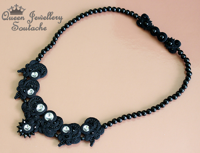 BLACK SOUTACHE NECKLACE