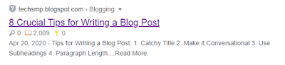 If your blog post is about tips, trick, and factors then list out some of those points in your meta description.