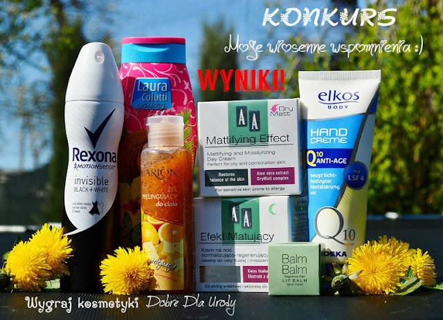 Konkurs kosmetyki do wygrania - wyniki konkursu