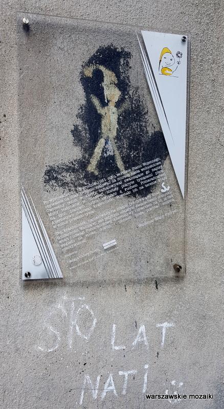 Madalińskiego Warszawa Warsaw Stary Mokotów krasnal krasnoludek Pomarańczowa Alternatywa graffiti