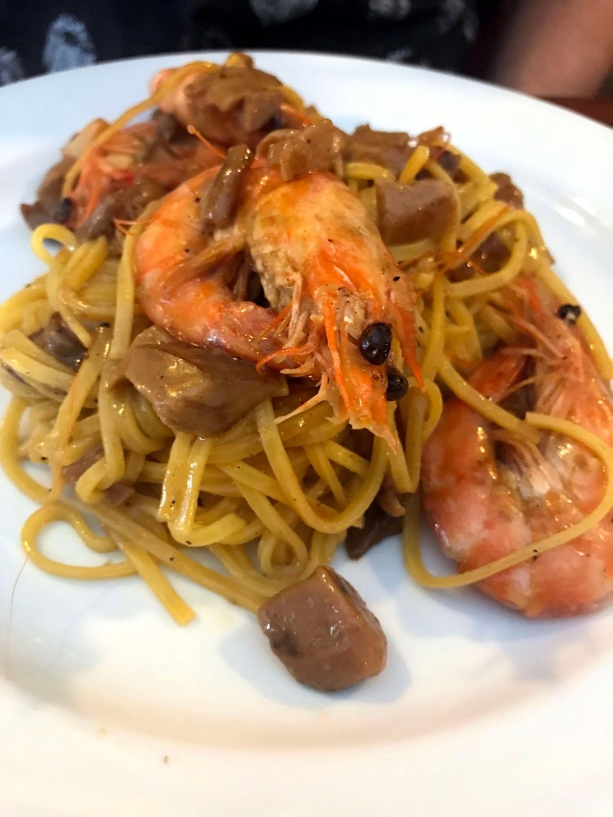 Stitch & Bear - Caffe Amore - Linguini gamberoni e porcini